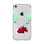 For Transparent Pattern Case Back Cover Case Cartoon Dinner Soft TPU for IPhone 7 7Plus iPhone 6s 6 Plus iPhone 6s 6 iPhone 5s 5 5E 5C 4 4s