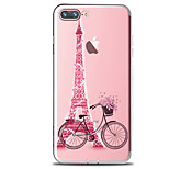 For IPhone 7 Case Back Cover Case TPU Bicycles And Towers Pattern for iPhone 7/ 7 Plus 6s/ 6 /6s Plus / 6 Plus/ SE / 5s / 5 /5C/ 4/4s