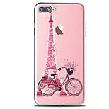 Für Transparent Muster Hülle Rückseitenabdeckung Hülle Eiffelturm Weich TPU für AppleiPhone 7 plus iPhone 7 iPhone 6s Plus iPhone 6 Plus