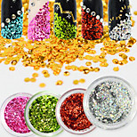 10Bottles/Set  Colorful Glitter Glisten Clear Water Droplet Nail Art Paillette Nail DIY Shiny Decoration Nail Beauty Design D01-11