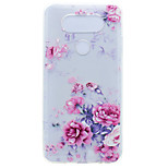 For LG G6 X Power Peony Flower Pattern Soft TPU Material Phone Case for K10 K8 K7 V20 Nexus 5X