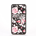 For Ring Holder Embossed Pattern Case Back Cover Case Flower Hard PC for Apple iPhone 7 Plus iPhone 7 iPhone 6s Plus iPhone 6 Plus iPhone
