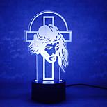 jul god kontakt mörkläggning 3D LED nattlampa 7colorful dekoration atmosfär lampa nyhet belysning jul ljus
