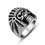 Ring Circle Titanium Steel Geometric Silver Jewelry For Daily 1pc