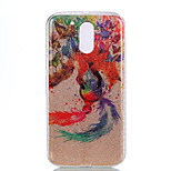 For Moto G4 Moto G4 PLUS Double IMD Case Back Cover Case The Butterfly And The Wolf Dream Catcher Pattern Soft TPU