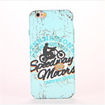 For Embossed Pattern Case Back Cover Case Word / Phrase Hard PC for Apple iPhone 7 Plus iPhone 7 iPhone 6s Plus iPhone 6 Plus iPhone 6s