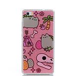 Für IMD Muster Hülle Rückseitenabdeckung Hülle Katze Glänzender Schein Totenkopf Weich PC für HuaweiHuawei P9 Huawei P9 Lite Huawei P8