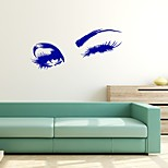 Hot Selling Pretty FemaleEyesWallStickerVinyl Decal For Bedroom Art Decoration RemovableWallMural