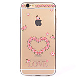 For Heart Pattern Soft TPU Material Phone Case for iPhone 7 Plus 7 6S Plus 6S 6 SE 5