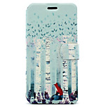 For Huawei P8 Lite (2017) P10 Case Cover Forest Fox Pattern HD Painted Voltage TPU Process PU Skin Phone Case