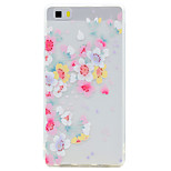 For Huawei P10 P9 Lite Case Cover Transparent Pattern Back Cover Case Flower Soft TPU for P10 Plus P8 Lite2017P8 Lite