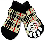 Cat Dog Socks Cute Sports Fashion Casual/Daily Birthday Holiday Wedding Reversible Keep Warm Plaid/Check Cotton