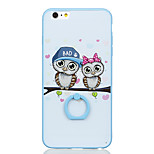 For Ring Holder Pattern Case Back Cover Case Owl Hard PC for Apple iPhone 6s Plus iPhone 6 Plus iPhone 6s iPhone 6