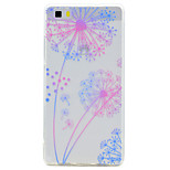 For Huawei P10 P9 Lite Case Cover Transparent Pattern Back Cover Case Dandelion Soft TPU for P10 Plus P8 Lite2017P8 Lite