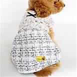 Dog Dress Dog Clothes Spring/Fall British Casual/Daily