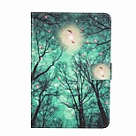 For Card Holder Wallet with Stand Flip Pattern Case Full Body Case Tree Hard PU Leather for Apple iPad Mini 4 iPad Mini 3/2/1