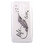 For HUAWEI 6X P8Lite(2017) Case Cover Feather Pattern HD TPU Phone Shell Material Phone Case