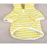 Dog Shirt / T-Shirt Dog Clothes Cute Casual/Daily Sports Stripe Black Orange Yellow Blue Light Green