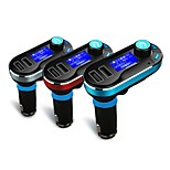 Wireless Bluetooth Car Kit MP3 Player FM Transmitter LCD Dual USB Charger