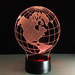 야간 조명 아크릴 창 테이블 램프 아메리카 모양의지도 다채로운 밤 램프 어린이 생일 선물 veilleuses 부탁 enfants