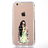 For iPhone 7 Sexy Lady TPU Soft Ultra-thin Back Cover Case Cover For Apple iPhone 7 PLUS 6s 6 Plus SE 5s 5 5C 4S 4