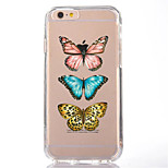 For iPhone 7 Cartoon Butterfly TPU Soft Ultra-thin Back Cover Case Cover For Apple iPhone 7 PLUS 6s 6 Plus SE 5s 5 5C 4S 4