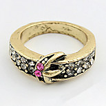 Korean Style Luxury  Rhinestone  Lady  Elegant Diamond Ring Gift Jewelry