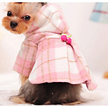 Dog Coat Dog Clothes Cute Fashion Color Block Blushing Pink Brown