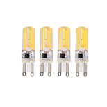 4Pcs Dimmable BRELONG 3W  4COB LED Lights G9/E14 White / Warm White  Bulb AC220-240V