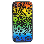For Apple iPhone 7 7 Plus 6S 6 Plus Case Cover Gradient Colorful Lace Flowers Pattern Crystal Relief Acrylic Backplane TPU Frame Combo Phone Case