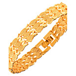 Women's Men's Chain Bracelet Jewelry Fashion Copper Gold Plated Geometric Animal Shape Gold Jewelry ForParty Special Occasion Halloween