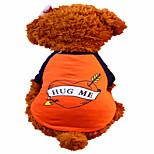 Holdhoney Dog Shirt / T-Shirt Orange Dog Clothes Summer Animal Fashion #LT15050286