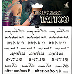 Temporary Tattoos Hand Leg Body White Series 3D Waterproof Tattoos Stickers Non Toxic Glitter Large Fake Tattoo Body   Halloween Gift 22*15cm