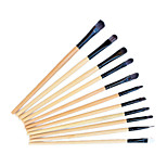 11 PC Makeup Brush Set Nylon Professional Limits Bacteria Hypoallergenic Wood Handle For Eye and Lip