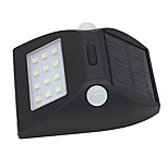 1PCS Solar Motion Sensor Light Outdoor IP65 Waterproof LED Sensing Range Security Night light with Auto White and Colorful Mode for Yard Diveway Patio