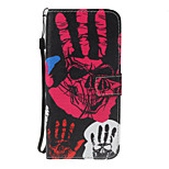 For Huawei P8 Lite (2017) P10 Lite Case Cover Palm Skeleton Pattern PU Material Painted Card Wallet Stent All-Inclusive Phone Case P8 P9 Lite