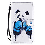 For Huawei P8 Lite (2017) P9 Lite Case Cover Panda Pattern Painted Card Stent PU Material Phone Case Mate 9 Honor 5C Honor 8 Honor 7