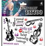 Temporary Tattoos Leg Body Romantic Series 3D Rose Waterproof Tattoos Stickers Non Toxic Glitter Large Fake Tattoo Halloween Gift 22*15cm