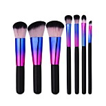 7pcs Eyeshadow Brush Foundation Brush Nylon Professional Travel Full Coverage Eco-friendly Portable Aluminum Wood Face Eye