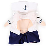 Dog Clothes/Jumpsuit Dog Clothes Spring/Fall Sailor Cute Cosplay