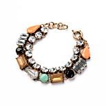 Women's Chain Bracelet Jewelry Friendship Fashion Alloy Geometric Rainbow Jewelry For Birthday Gift Valentine 1pc