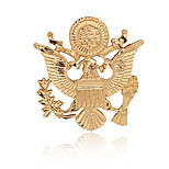 Women's Boys Other Brooches Animal Design Euramerican Gold Plated Alloy Eagle Shape Wings  Silver Gold Jewelry For Daily Casual