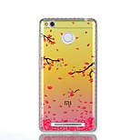 For Xiaomi Redmi 4a Note 4 Rhinestone IMD Translucent Flowers Of The Branches Pattern Back Cover Case Hard PC Note 4X