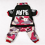 Dog Clothes/Jumpsuit Dog Clothes Winter Camouflage Casual/Daily
