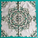 Square Embroidered Table Cloth Embroidery Tablecloth 85*85cm