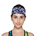 Двусторонняя шапка Банданы Жен. Впитывает пот и влагу Удобный для Йога Спорт в свободное время Бег