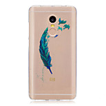 For Xiaomi Redmi Note 4 Note 3 3S Case Cover Feathers Pattern Back Cover Soft TPU Redmi Note