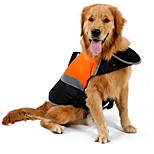 Cat Dog Rain Coat Vest Life Vest Dog Clothes Cute Sports Solid Green Orange for Large Dogs