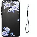 For Huawei P8 Lite (2017) P10 Case Cover Blue Flowers Pattern Fuel Injection Relief Plating Button Thicker TPU Material Phone Case P10 Lite P10 Plus