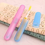 Travel Matte Dust Toothbrush Protective Cover(Random Color)